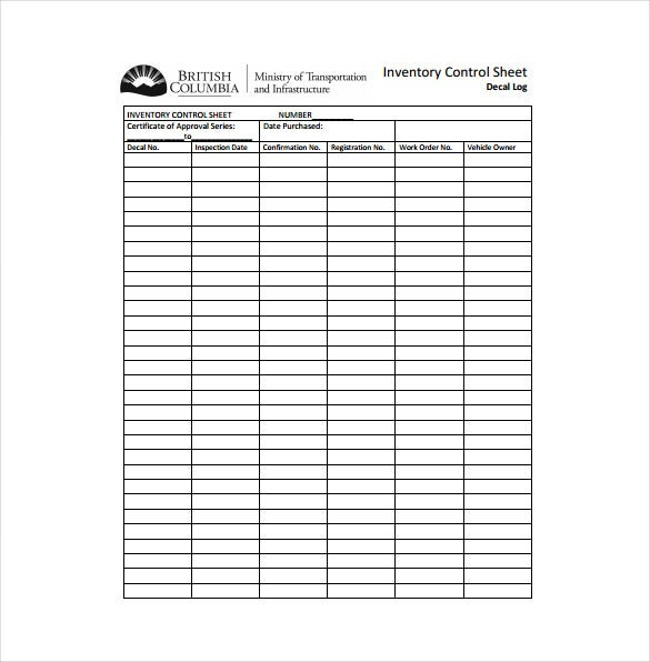 Printables Inventory Control Worksheet inventory sheet template free excel pdf documents download control download