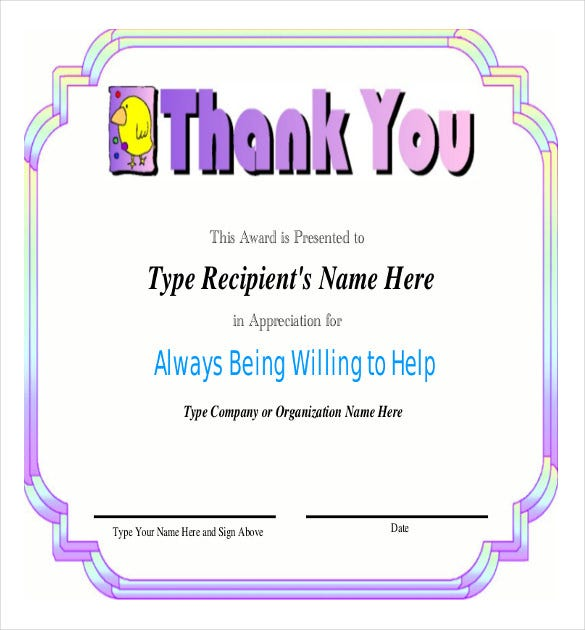 Employee Recognition Awards Template   Free Word Pdf