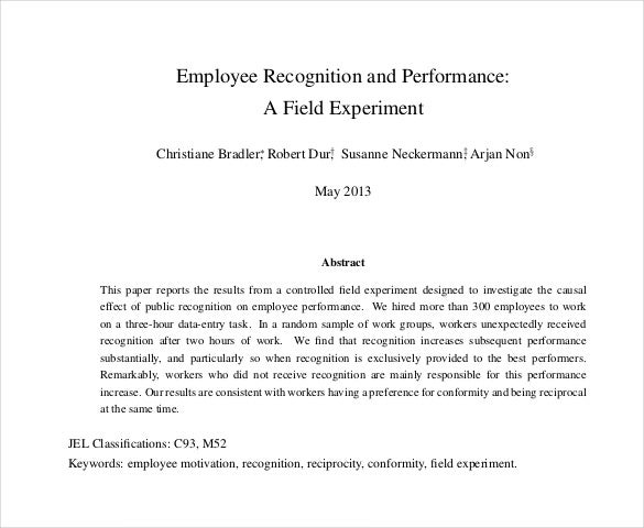 employee recognition and performance