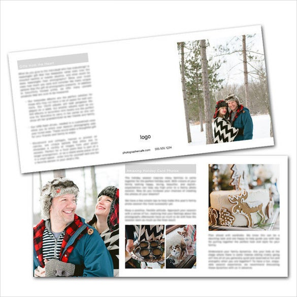 beatifully designed holiday newsletter template 2