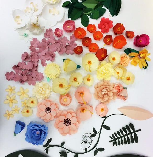 shoes up flora paper art design download