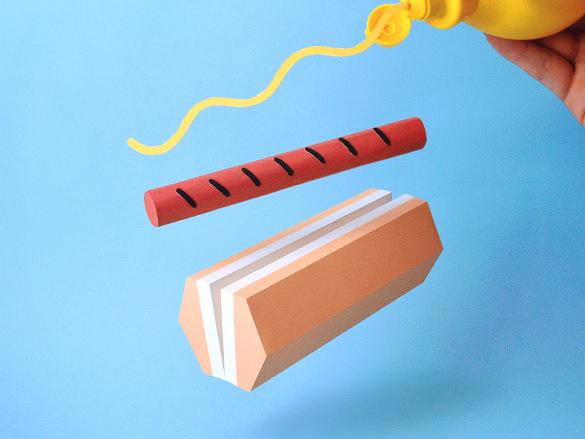 national hotdog day paper art work download