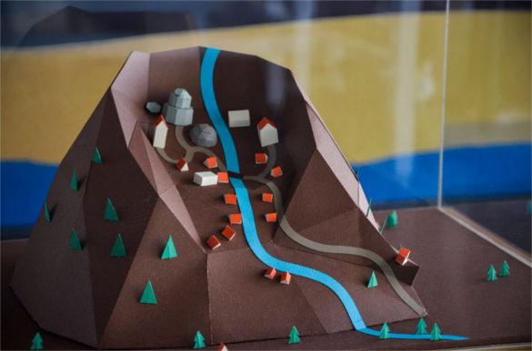 ciudades imaginarias paper art work