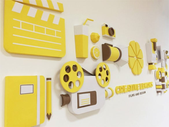 creative lemons videography paper art work download