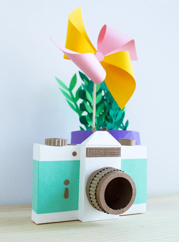 oupas camera paper art design1
