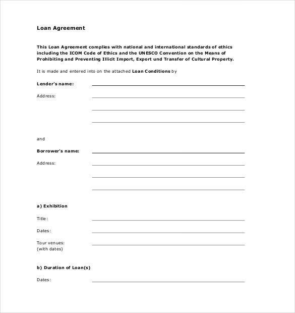 Loan Agreement Template 11 Free Word PDF Documents Download – Interest Free Loan Agreement Template