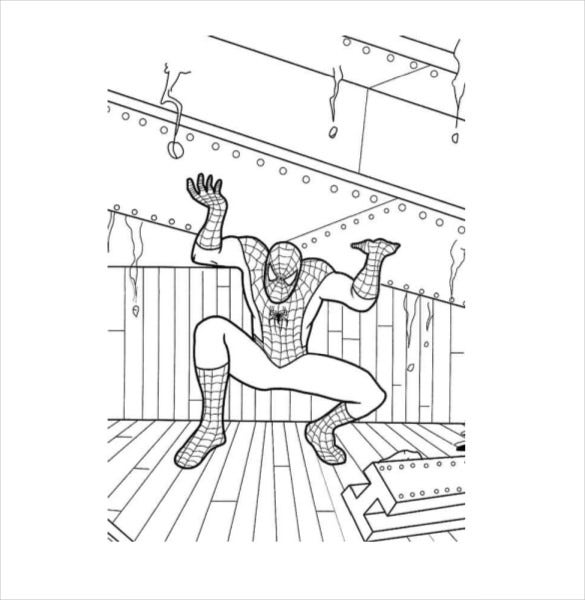 heavy spider man coloring page pdf free download