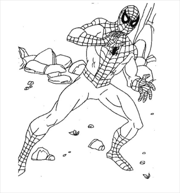 great spider man coloring page pdf free download