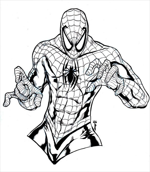 20 Spider Man Coloring Pages Pdf Psd Free Amp Premium