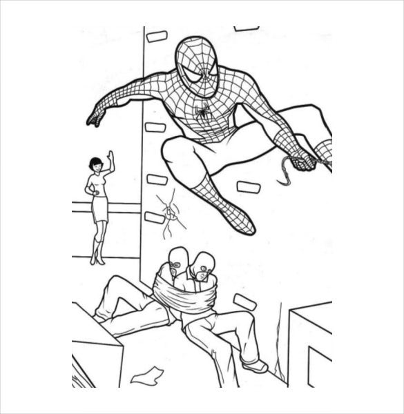 Spider Man At Best Coloring Page PDF Free Download Book