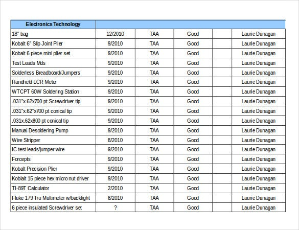 Inventory Tracking Template – Excel, Word Documents Download