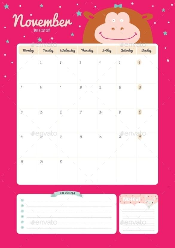 calendar diary template for 2016 2