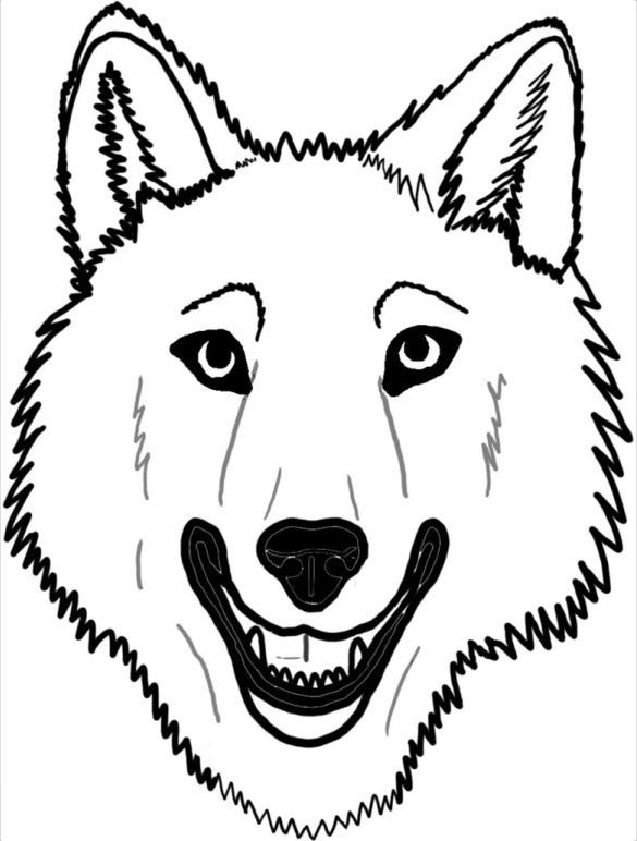 33 wolf drawings pdf jpeg free premium templates