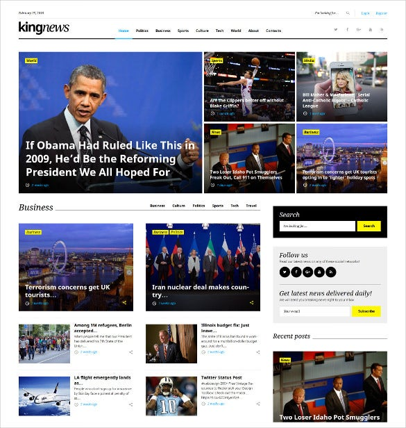newspaper blog wordpress website theme