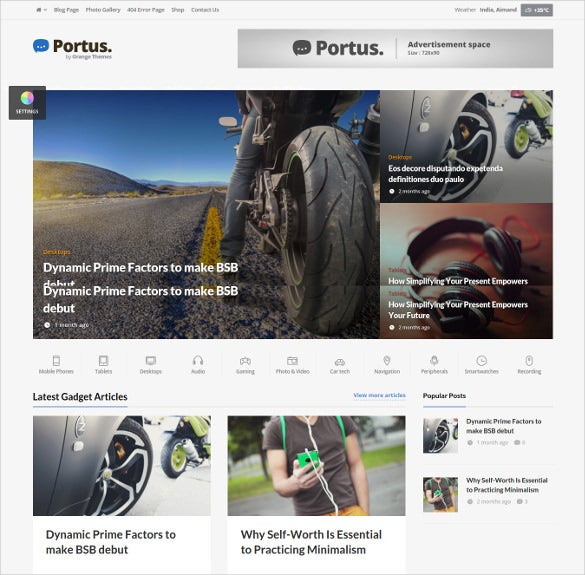 premium news portal magazine wordpress website theme
