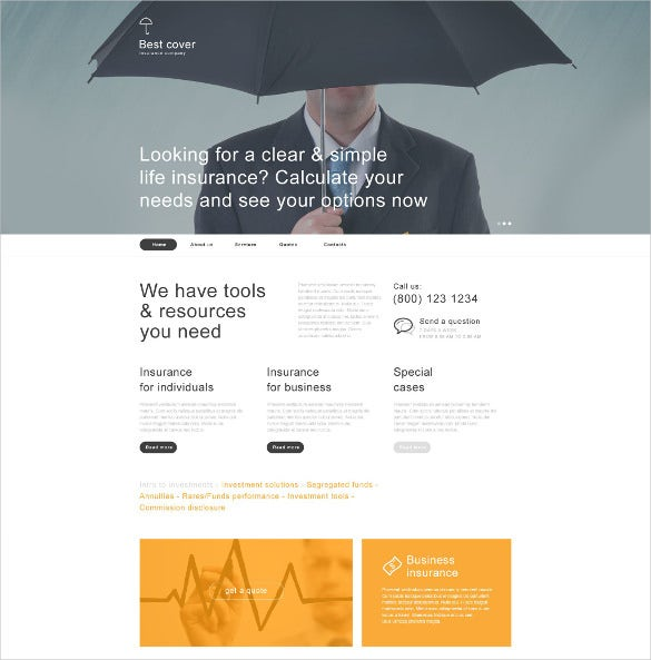 insurance muse website template