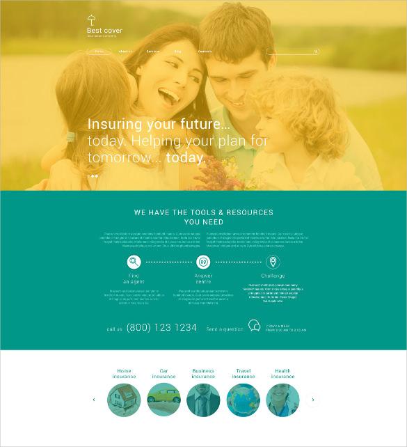 insurance company wordpress website theme