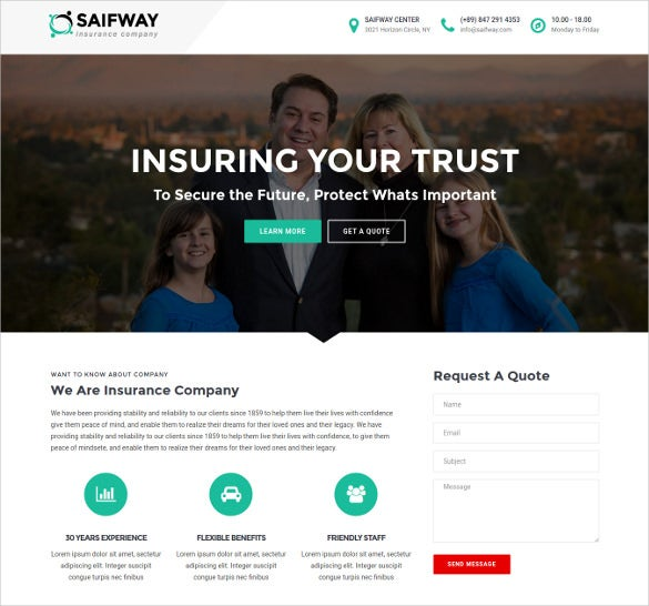 insurance agency web template  26  Insurance Website Themes