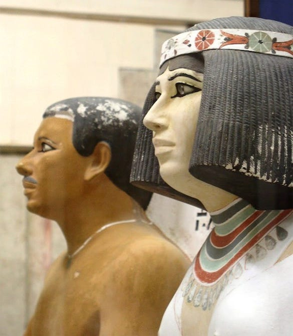 beautiful art prince rahotep and his wife nofret