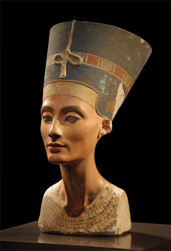 ancient egyptian art thutmose bust of nefertiti1345 bc