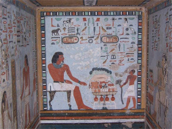 tomb of sarenput ii egypt art