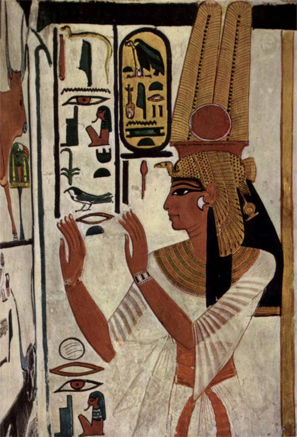 wall painting of nefertari ancient egyptian artworks
