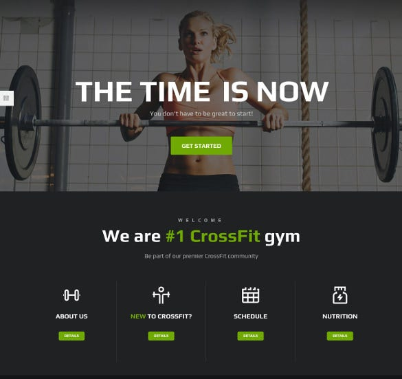 fitness gym crossfit wordpress website theme