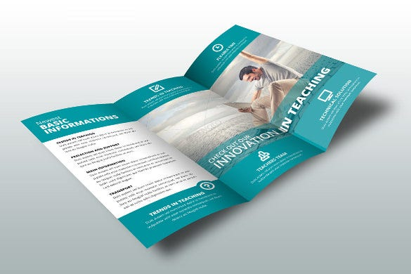 school brochure indesign template