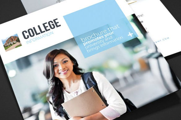 Awesome College School Trifold Brochure