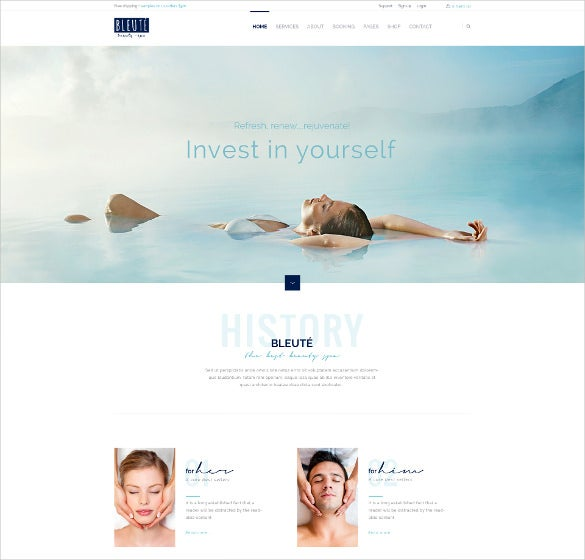 premium simple hair salon wordpress website template