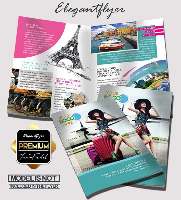 travel – free bi fold psd brochure template download