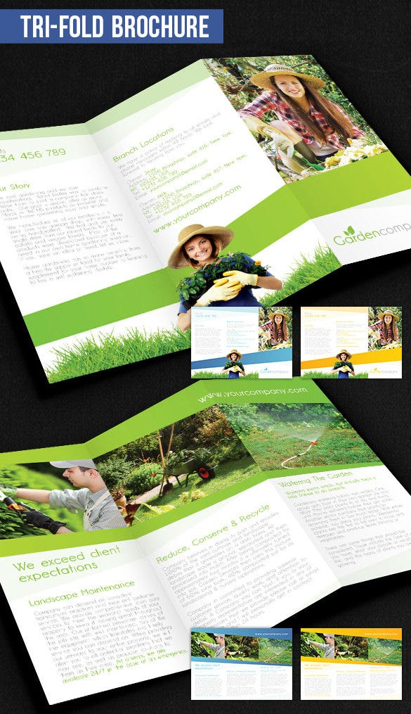 gardening brochure pack download – free psd template