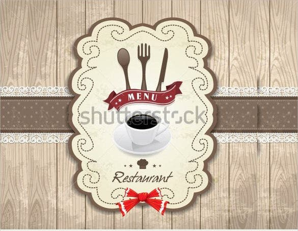 birthday vintage frame menu design template
