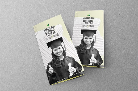 a4 size education tri fold brochure