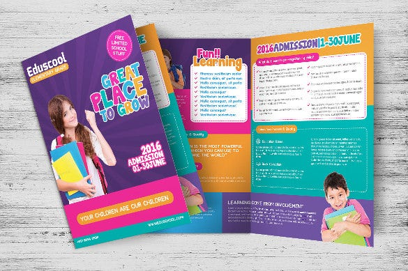 Education brochure template 25 free psd eps indesign for School brochure template free