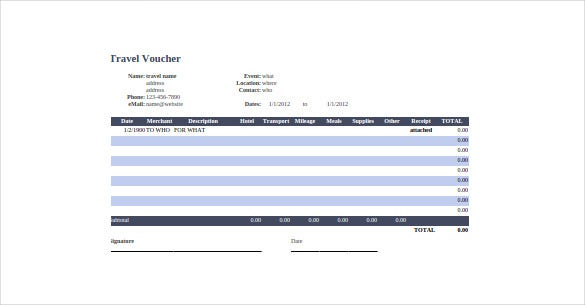 travel voucher google sheet template download