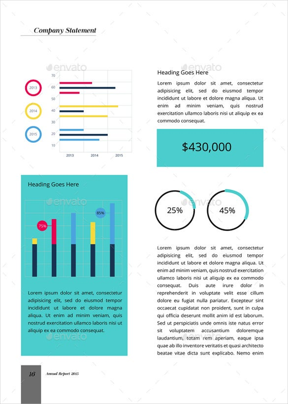 2016 Annual Report Template  Annual Reports Templates