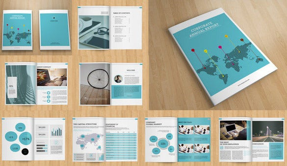 16 Page Indesign Annual Report Template