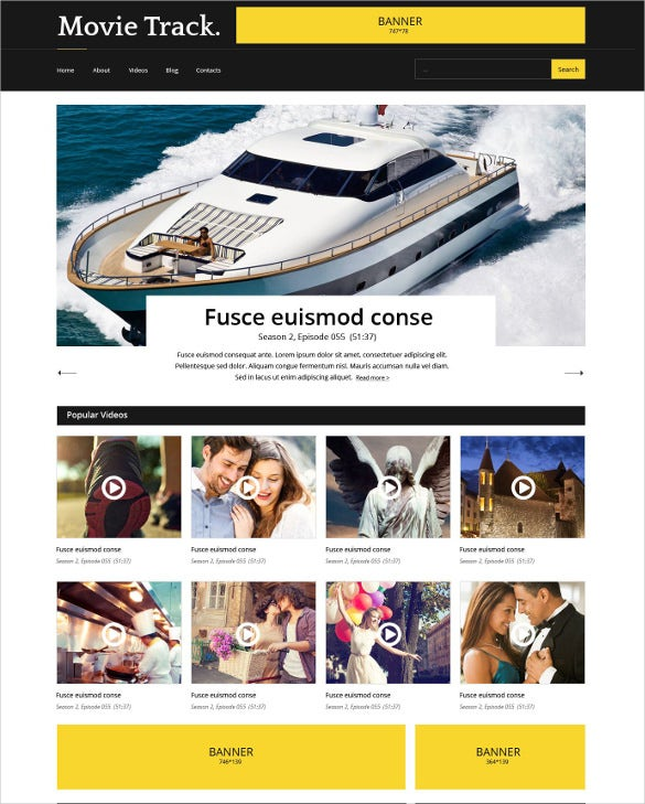 video responsive website template