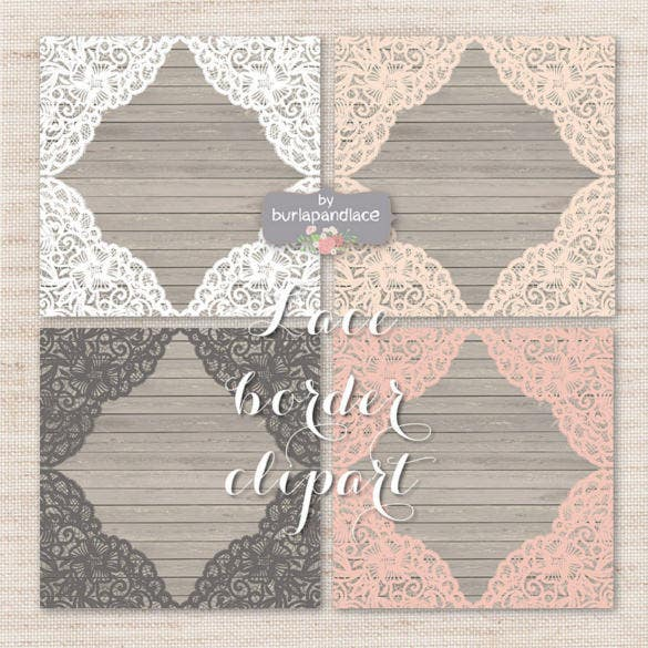 Lace Border Rustic Wedding Background
