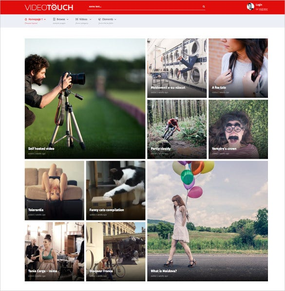 31+ Responsive Video Website Themes & Templates | Free & Premium ...