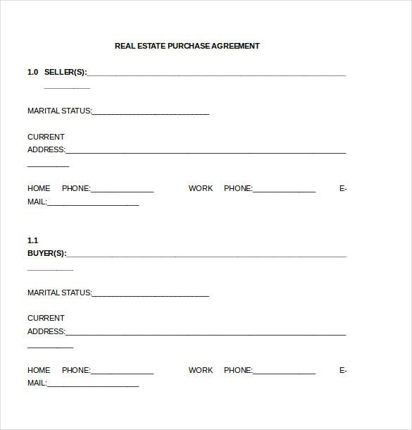 Purchase Agreement Template  Free Word Pdf Document Download