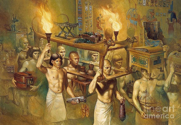 artwork of egypt mummy historical photographs