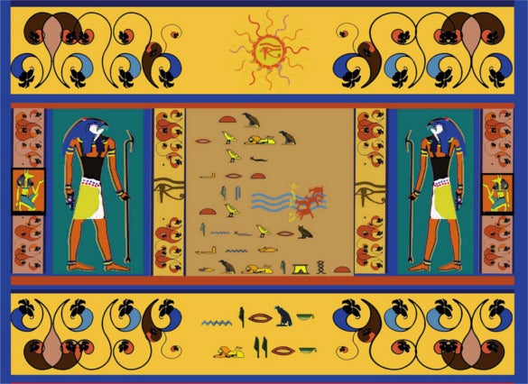 course project egyptian style art painting download