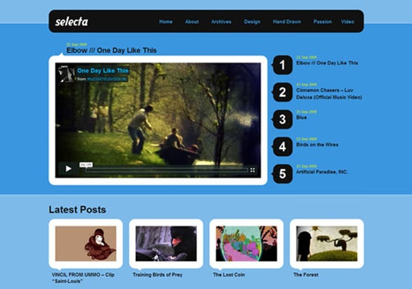 responsive video website themes templates free premium temp