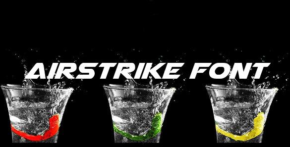 airstrike modern font template