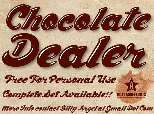chocolate dealer modern font download