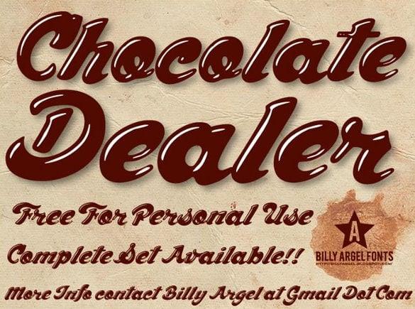 chocolate dealer modern font download