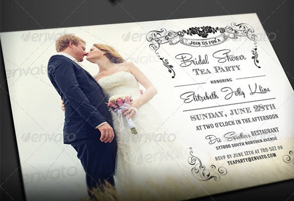 Tea party invitation template 42 free psd eps indesign format flower royal bridal shower tea party invitation filmwisefo Images