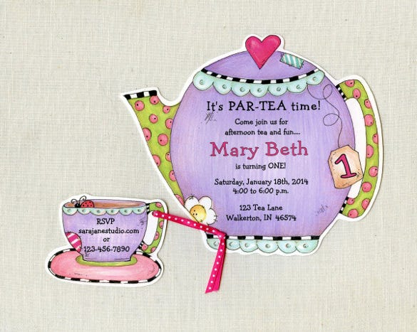 tea party invitation template - 40+ free psd, eps, indesign format, Party invitations